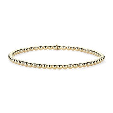 NEW Stretch Bead Bracelet in 14K Yellow Gold