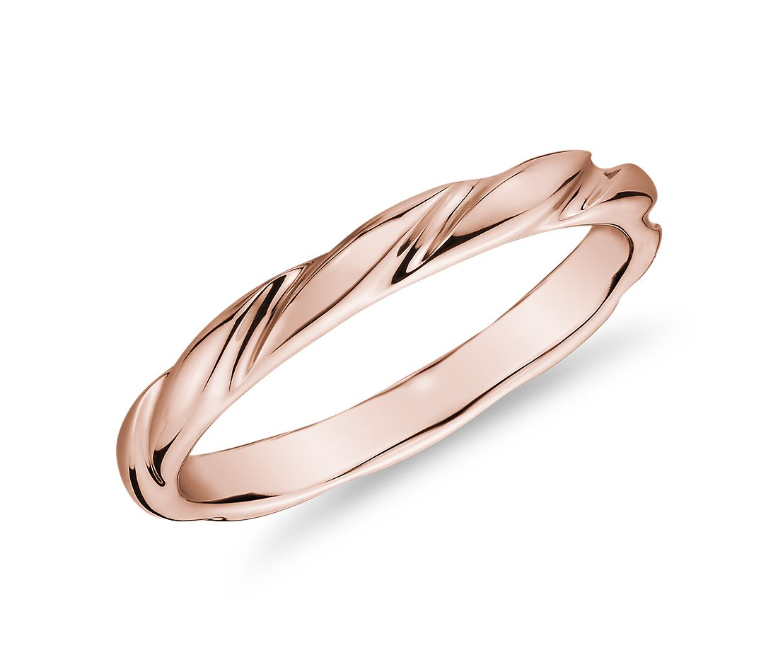 Swirl Female Ring in 14k Rose Gold (1.5mm)