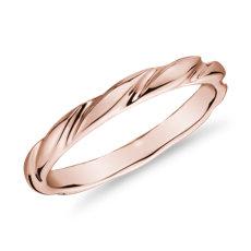 14k 玫瑰金涡状女士戒指<br>(1.5毫米)
