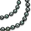 Tahitian Cultured Pearl Strand Necklace with 18k White Gold - 38