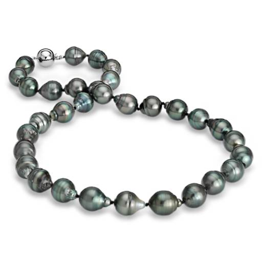 Blue Nile Baroque Tahitian Cultured Pearl Bracelet with 18k White Gold (9.9mm) CMx6bdQI83
