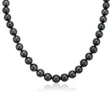 新款 18k 白金大溪地珍珠链串项链(8-9.5毫米)