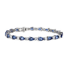 NEW Tanzanite & White Sapphire Bracelet in 14k White Gold