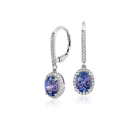 pinnacle product minerals earrings tanzanite ck