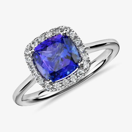 坦桑石訂婚戒指