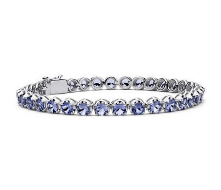 Tanzanite Bracelet in Sterling Silver (4mm)