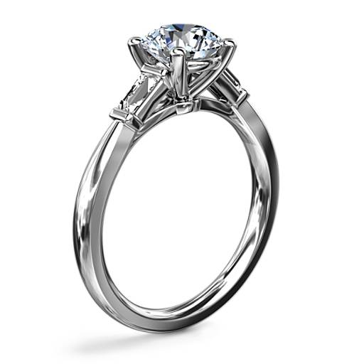 NEW Tapered Baguette Diamond Engagement Ring