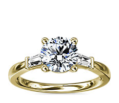 Tapered Baguette Diamond Engagement Ring in 14k Yellow Gold (1/6 ct. tw.)