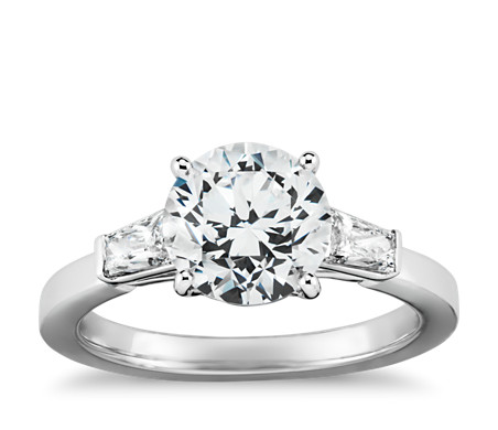 tapered brilliant baguette diamond engagement ring in. Black Bedroom Furniture Sets. Home Design Ideas