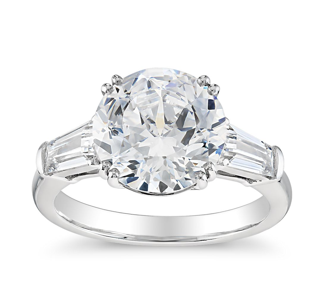 Blue Nile Studio Tapered Baguette Engagement Ring In