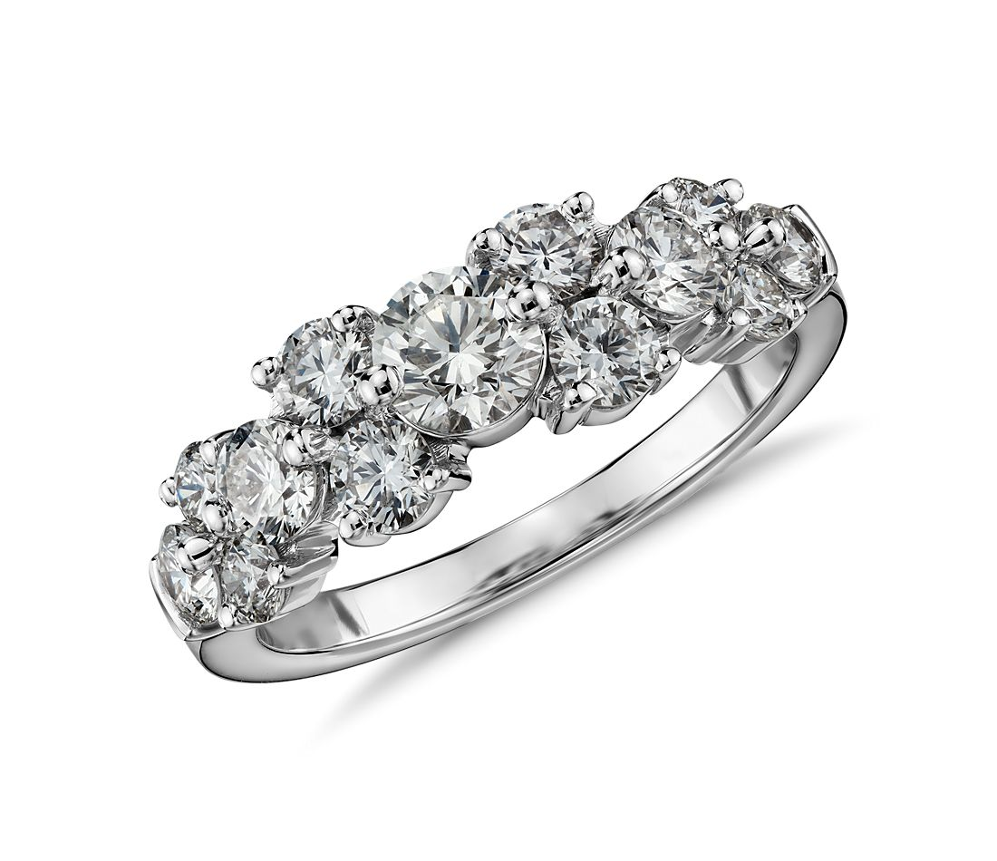 Tapered Garland Diamond Ring in 18k White Gold (1.5 ct. tw.)