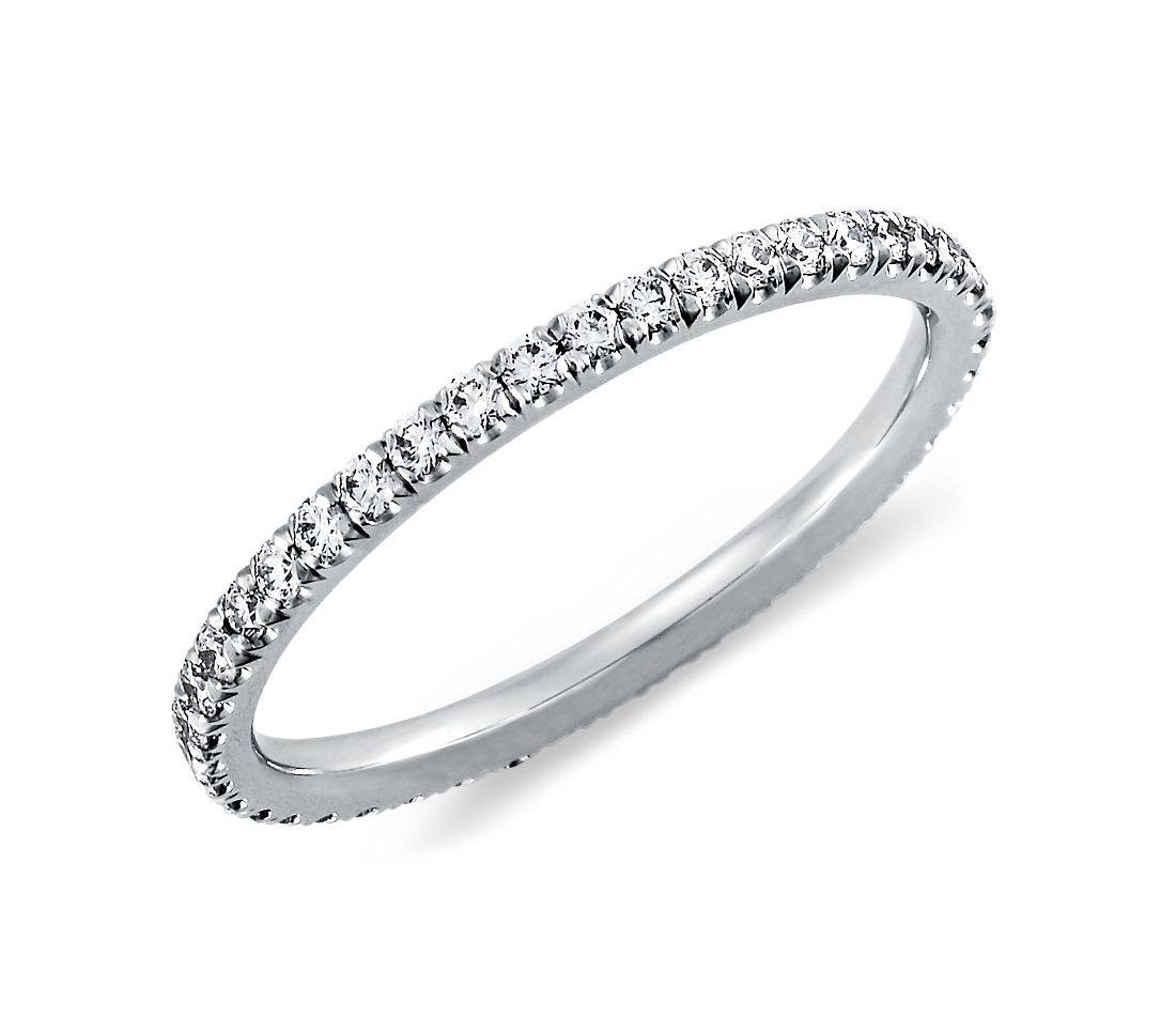 Tazza Pave Diamond Eternity Ring in Platinum (3/8 ct. tw.)