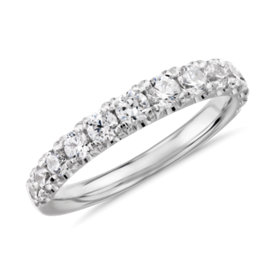 NEW Graduated Tazza Pave-Set Diamond Ring in Platinum (3/4 ct. tw.)