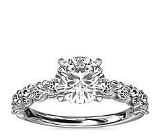 铂金 Tessere 钻石订婚戒指<br>(5/8 克拉总重量)