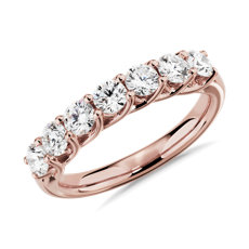 NEW Tessere Seven Stone Diamond Wedding Ring in 14k Rose Gold - I/SI2 (1 ct. tw.)