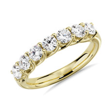 NEW Tessere Seven Stone Diamond Wedding Ring in 14k Yellow Gold - I/SI2 (1 ct. tw.)