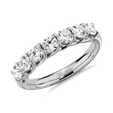 NEW Tessere Seven Stone Diamond Wedding Ring in 14k White Gold - I/SI2 (0.95 ct. tw.)