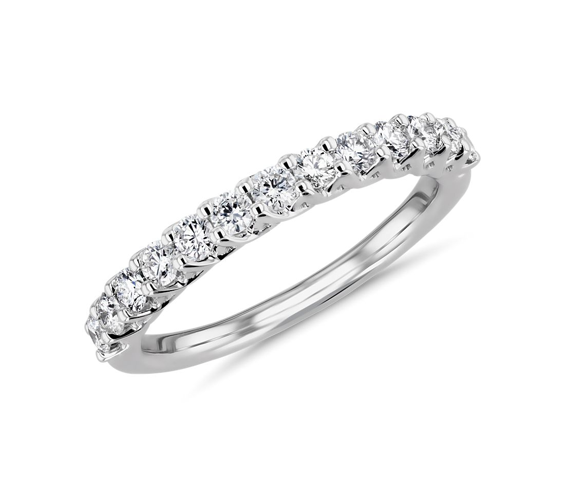 Tessere Weave Diamond Anniversary Band in 18k White Gold