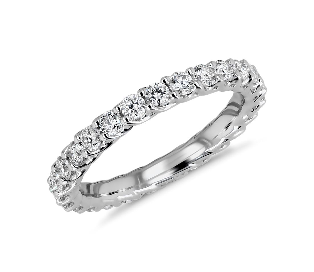 Tessere Weave Diamond Eternity Ring in 18k White Gold (.95 ct. tw.)