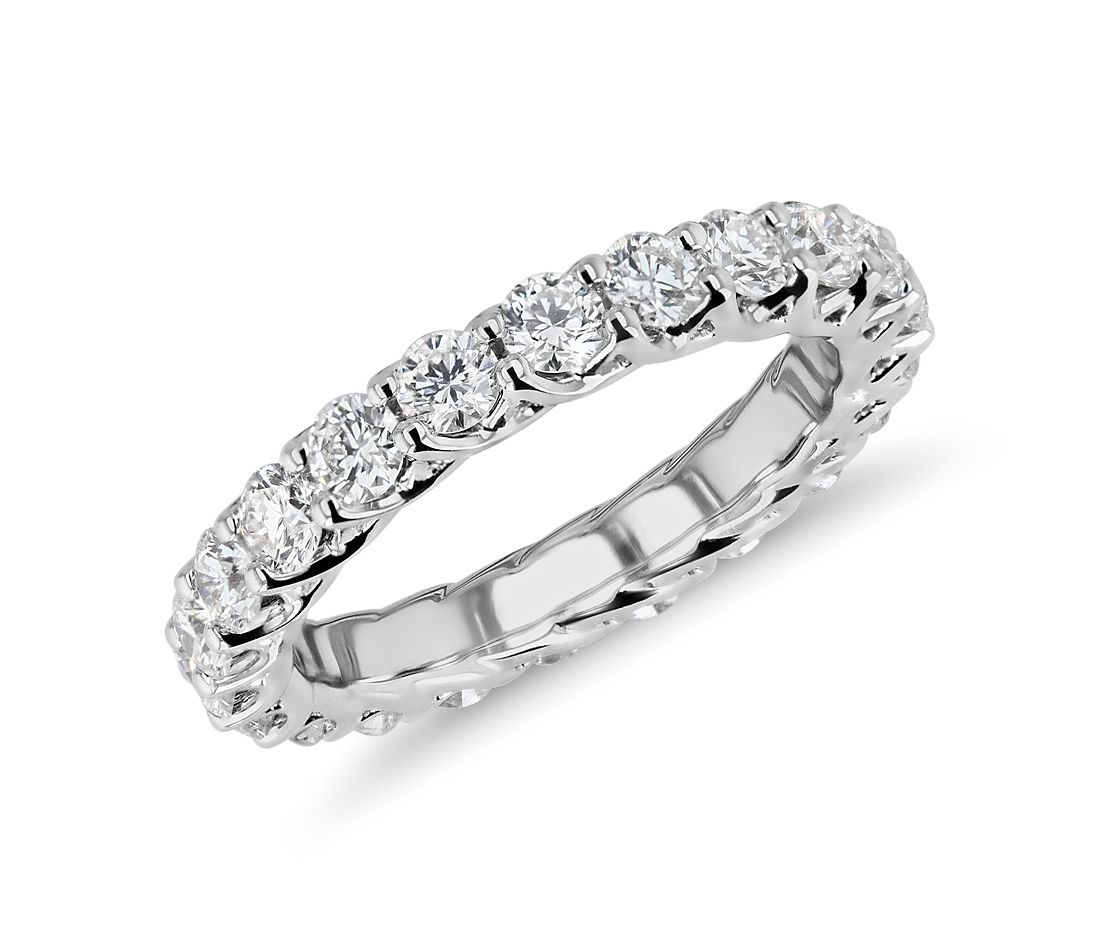 Tessere Weave Diamond Eternity Ring in 18k White Gold (2 ct. tw.)