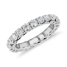 Tessere Weave Diamond Eternity Ring In 18k White Gold 2 Ct Tw