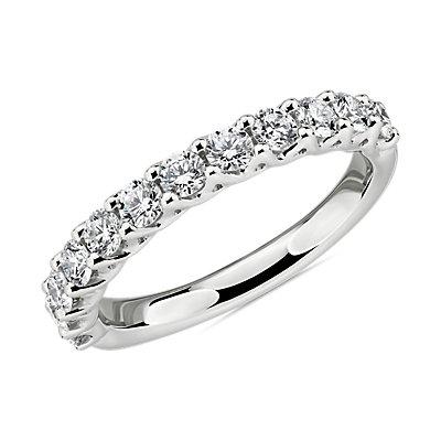 鉑金編織鑽石結婚戒指(3/4 克拉總重量)