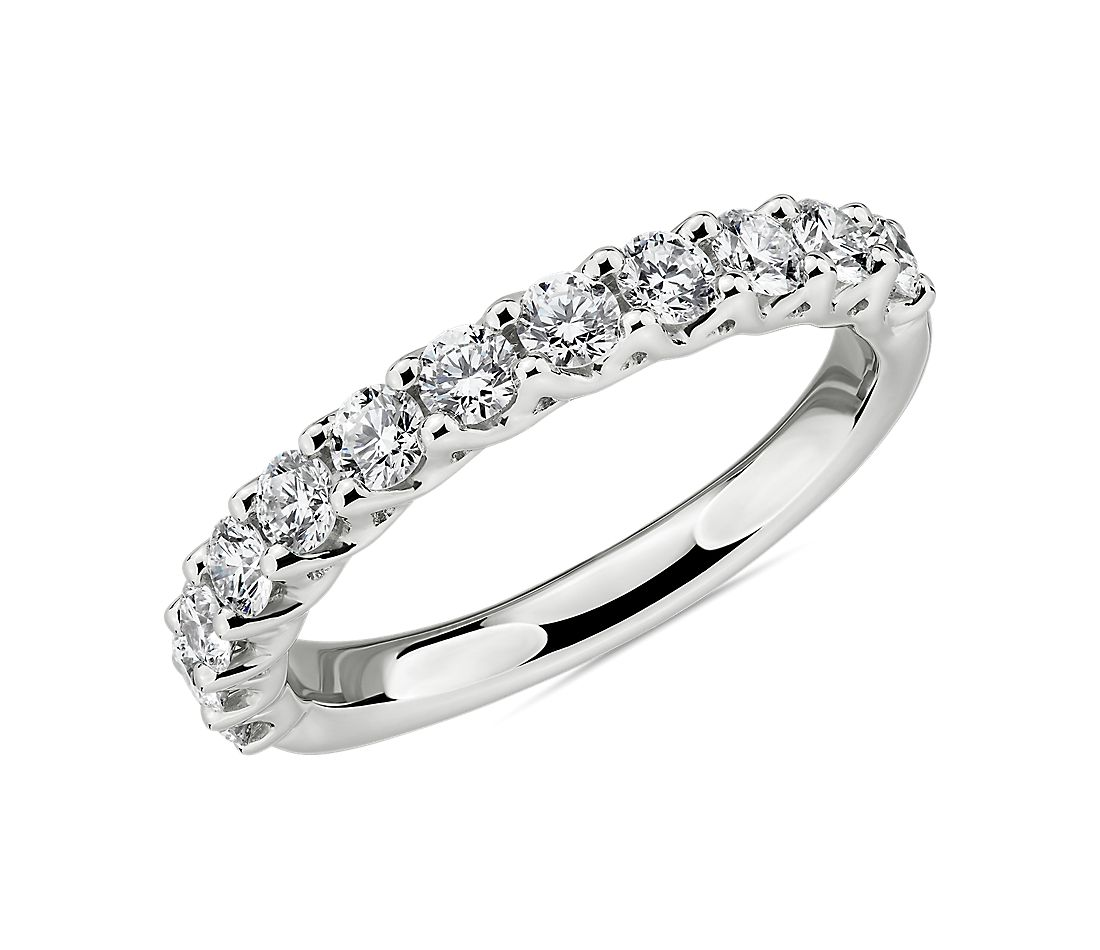Alliance tissée en diamants Tessere en platine (3/4 carat, poids total)