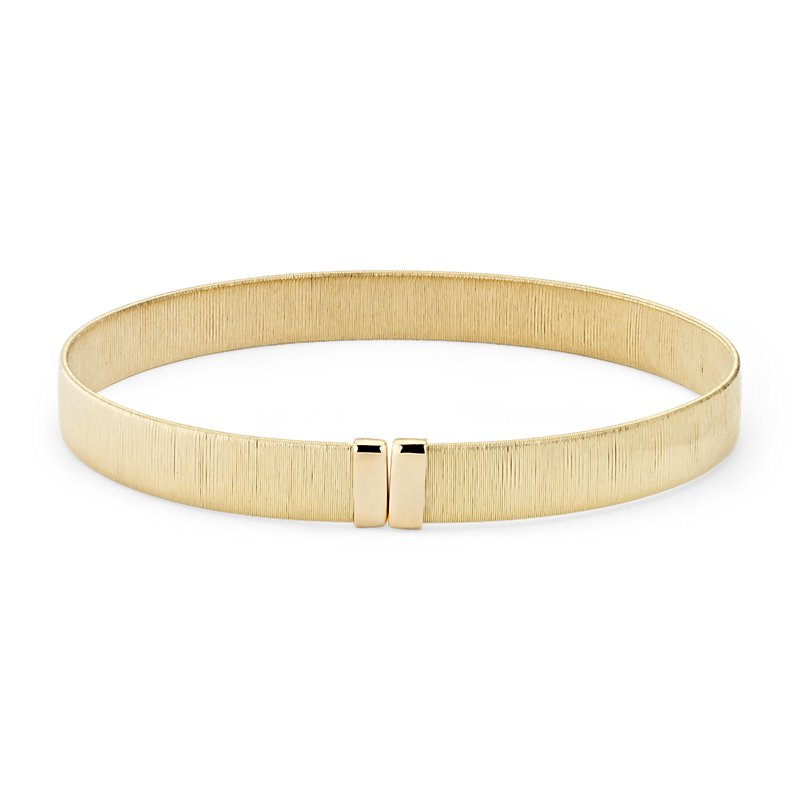 Textured Cuff Bracelet in 18k Italian Yellow Gold