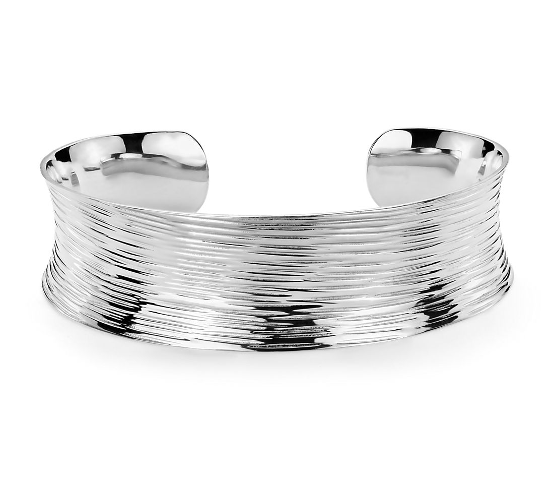 Textured Cuff in Sterling Silver