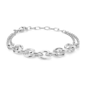 Textured Link Bracelet in Sterling Silver