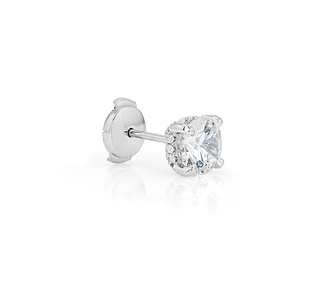 The Gallery Collection™ Diamond Pavé Earring Setting in Platinum