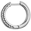Three Row Baguette and Round Hoop Earrings in 14k White Gold (1 ct. tw.)