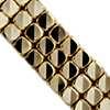 14k 義大利黃金三排切割方塊手鍊