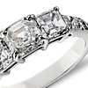 Three Stone Asscher  Diamond Ring in Platinum  (2 ct. tw.)