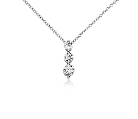 Three stone drop diamond pendant in 14k white gold 12 ct tw three stone drop diamond pendant in 14k white gold 12 ct aloadofball Choice Image