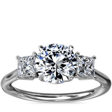 NEW Three-Stone Princess Diamond Engagement Ring in Platinum (1/3 ct. tw.)