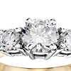 Classic Three-Stone Diamond Engagement Ring in 18k Yellow Gold