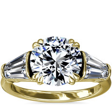 NEW Three-Stone Tapered Baguette Diamond Engagement Ring in 18k Yellow Gold (3/4 ct. tw.)