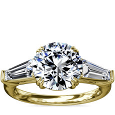 Three-Stone Tapered Baguette Diamond Engagement Ring in 18k Yellow Gold (5/8 ct. tw.)