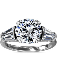 NEW Three-Stone Tapered Baguette Diamond Engagement Ring in Platinum (3/4 ct. tw.)