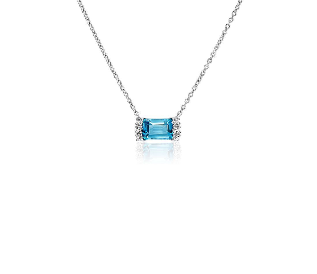 Topaz Candy Necklace in 18k White Gold
