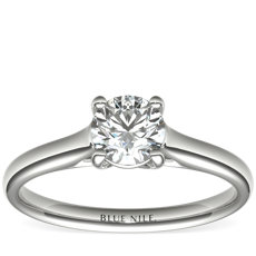 1/2 Carat Ready-to-Ship Trellis Solitaire Engagement Ring in 14k White Gold