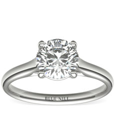 Trellis Solitaire Engagement Ring in Platinum
