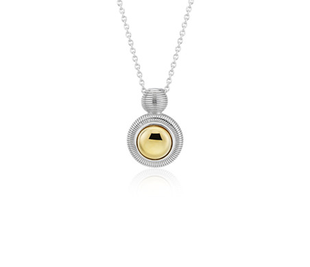 Frances Gadbois Two-Tone Pendant in Sterling Silver and Yellow Gold Vermeil
