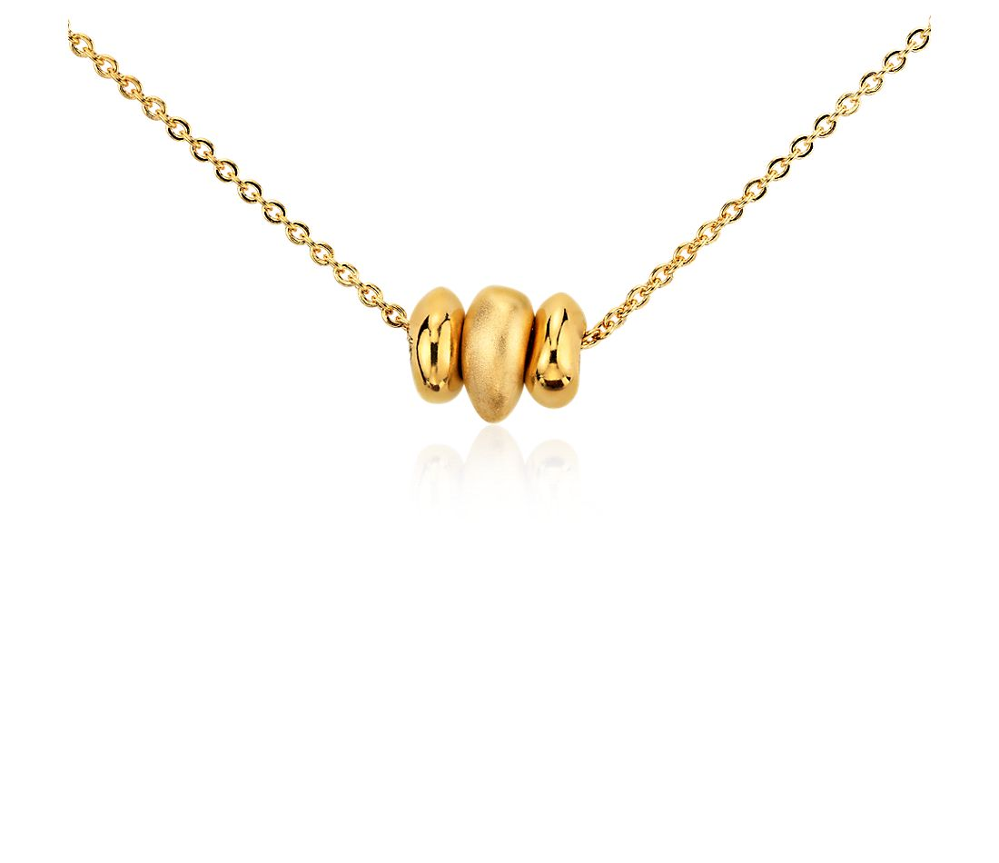 Bead Wish Pendant in Yellow Gold Vermeil