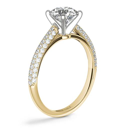 Trio Micropavé Engagement Ring