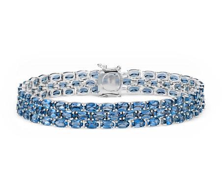 Blue Nile Petite Swiss Blue Topaz Oval Bracelet in Sterling Silver (5x3mm) hW38GbdRvU