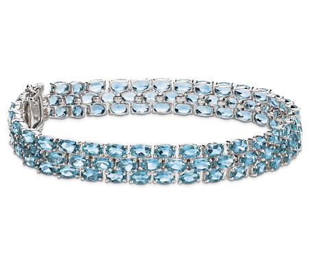 Blue Nile Petite Swiss Blue Topaz Oval Bracelet in Sterling Silver (5x3mm) xvLr63pals