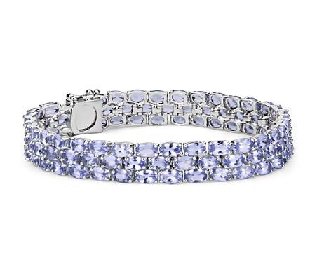 Blue Nile Trio Oval Blue Topaz Bracelet in Sterling Silver (5x3mm) dOmTuT69