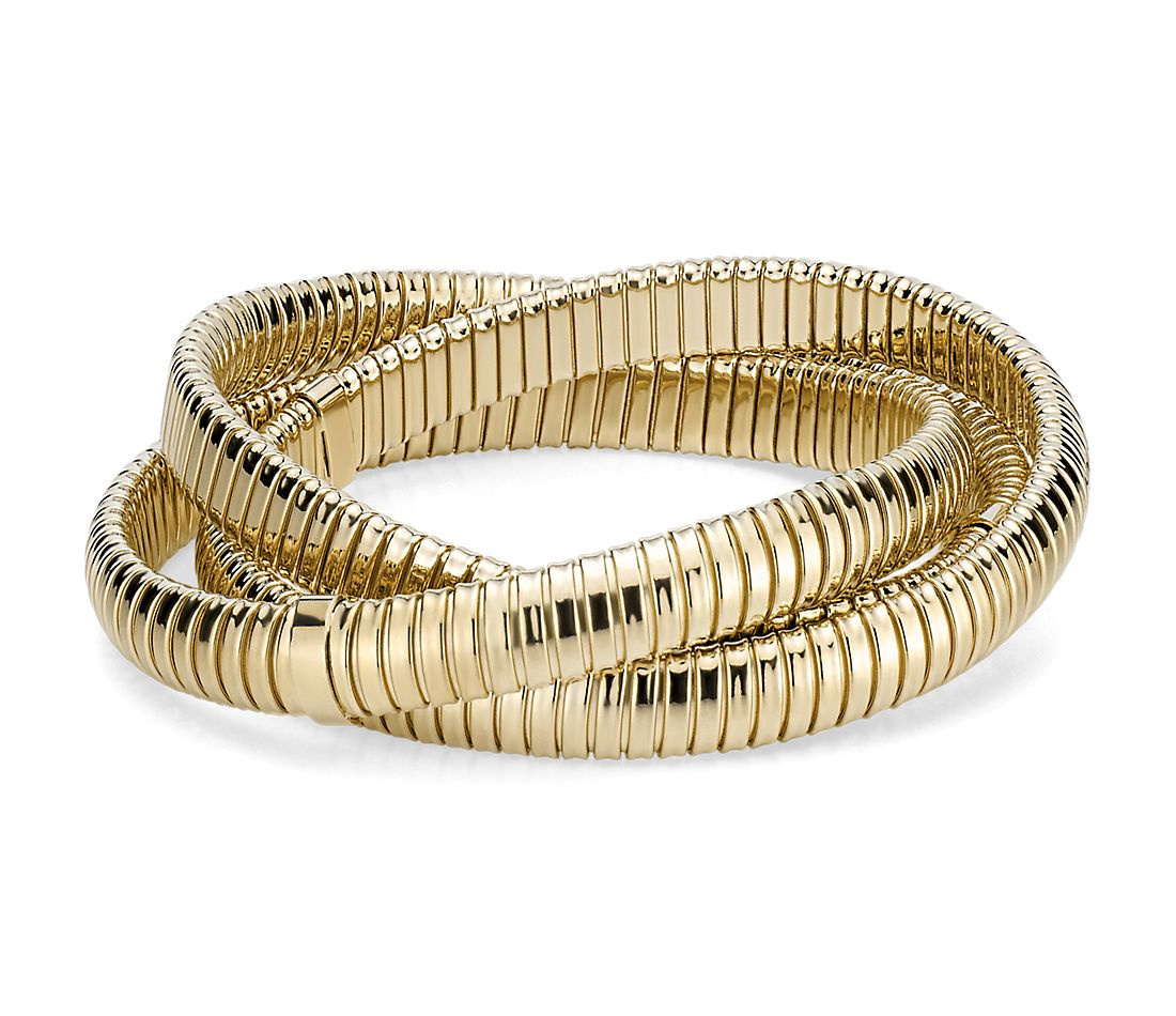 Triple Interlocking Bracelets in 18k Italian Yellow Gold